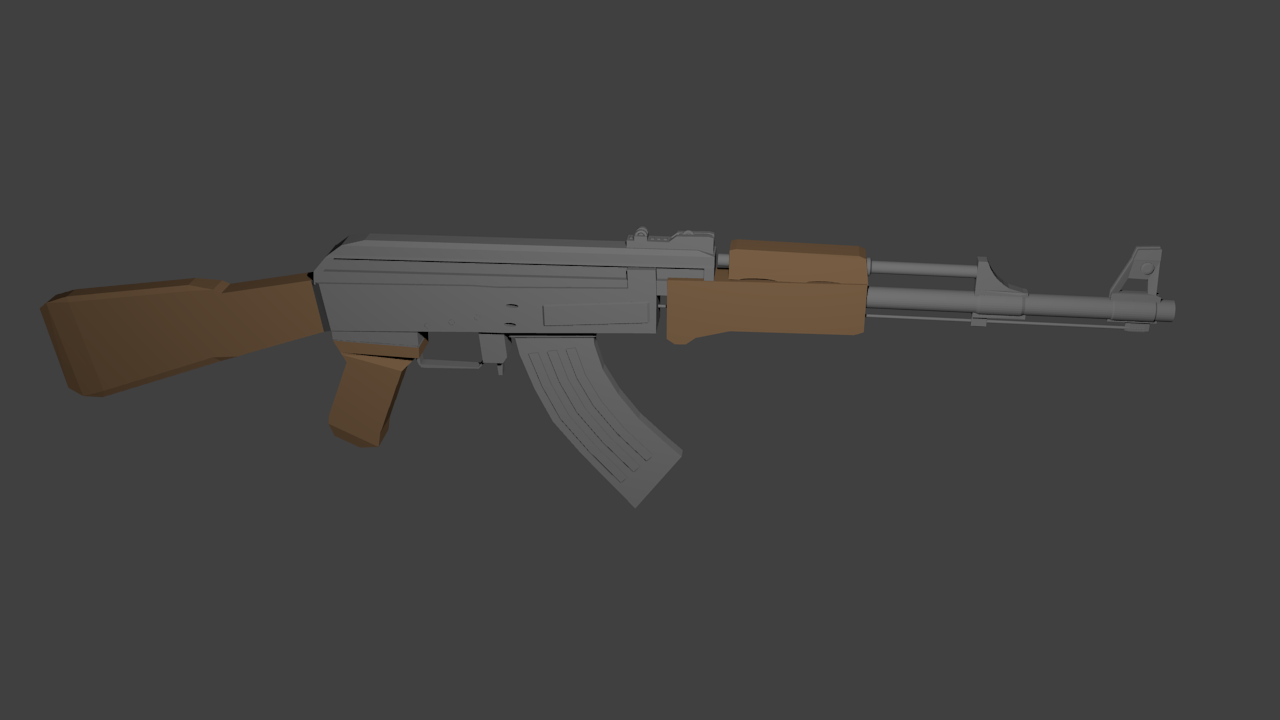 FREE Low Poly Weapons Pack - Modern guns by Delthor