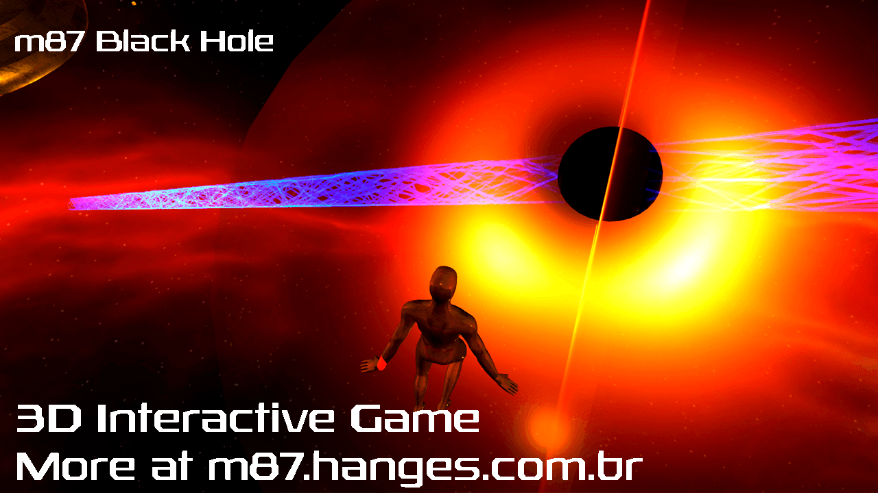 m87 Black Hole 3D Interactive Game - Prototype by hanges