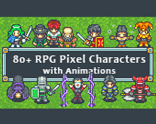 80+ RPG Characters Sprites by finalbossblues