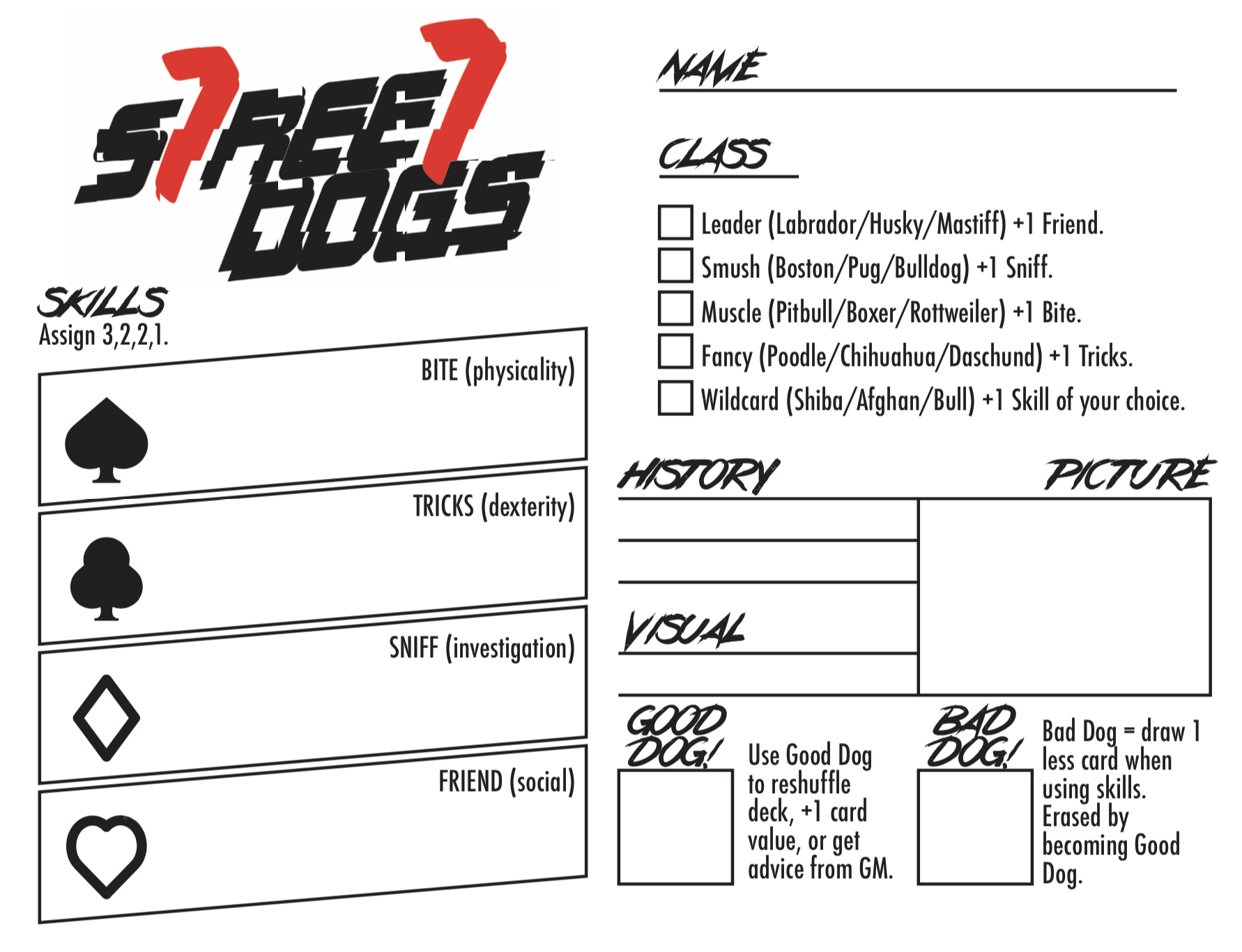 STREET DOGS RPG by World Champ Game Co  for Dog Jam 2k19 - itch io