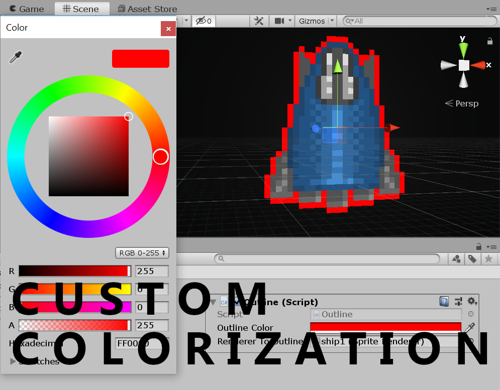 FREE Sprite Outliner for Unity by Copper Aardvark Games