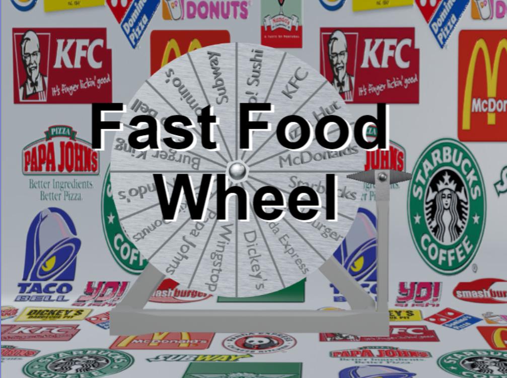 Fast Food Wheel by Bryanhags
