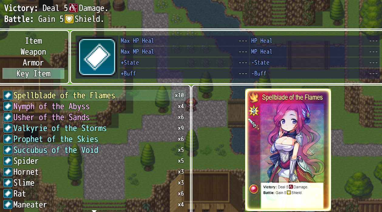 Collectible Card Game plugin for RPG Maker MV by Irina