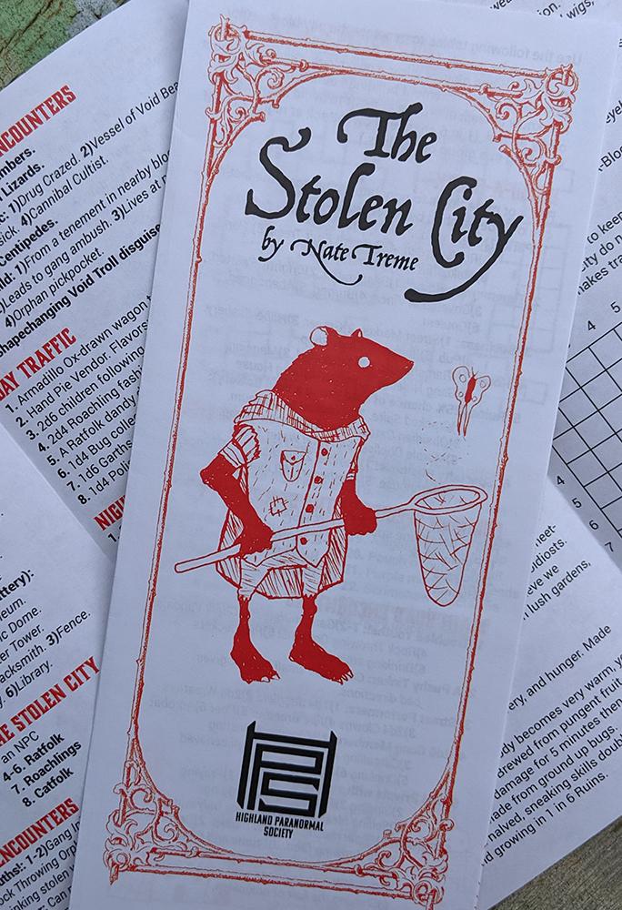 stolen city printed