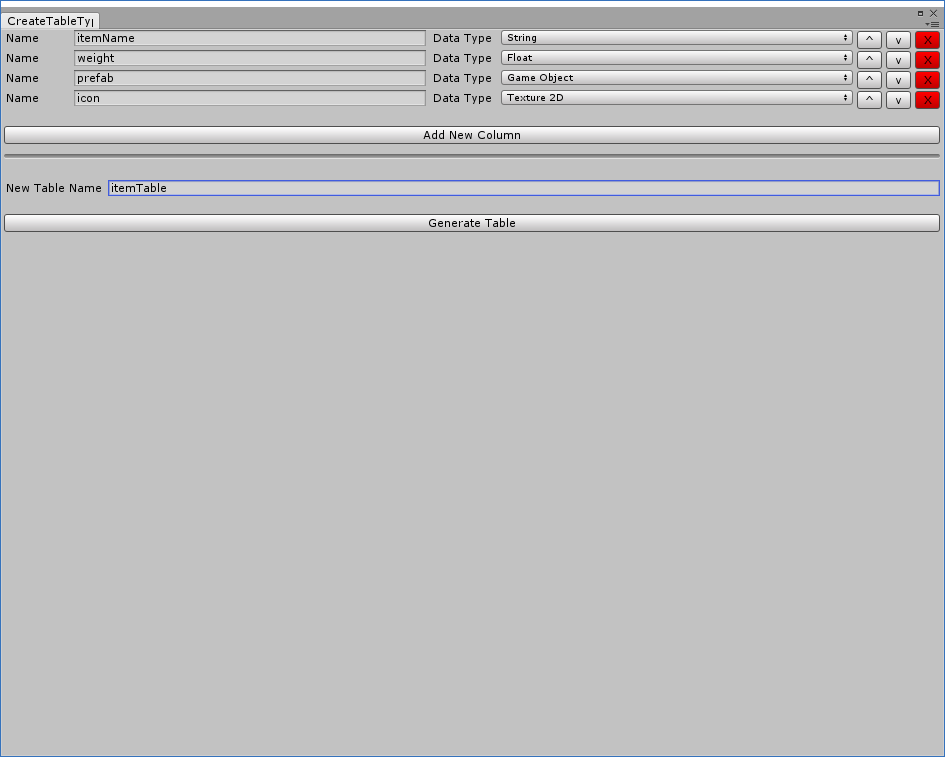 UI Overhaul - Simple Data Tables (Unity Asset / Editor Extension) by