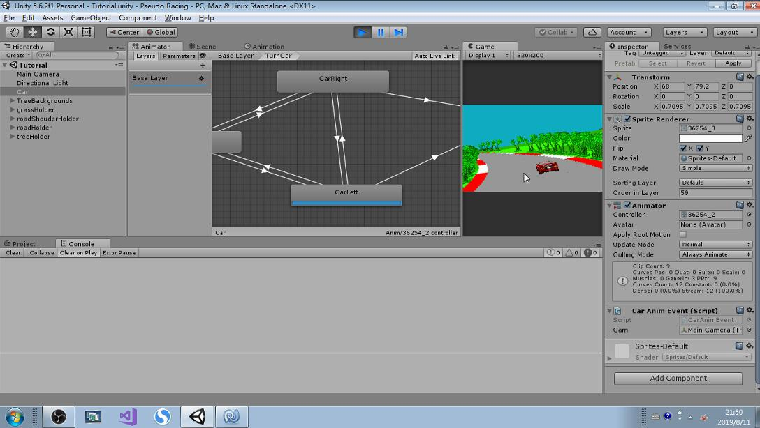 Pseudo 3d Racing Template For Unity Engine by YangBin for