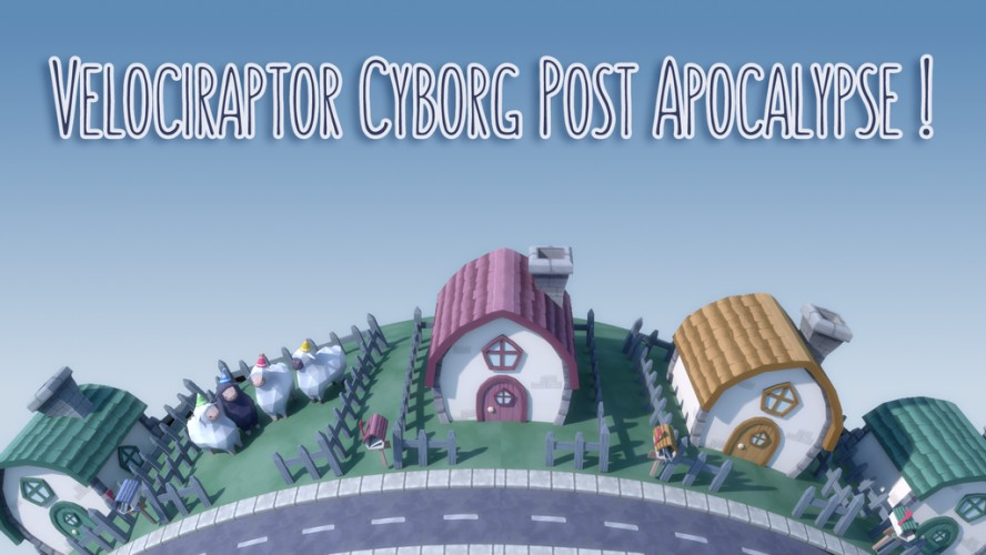 Velociraptor Cyborg Post Apocalpyse !