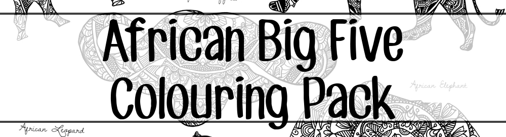 African Big Five Colouring Pack