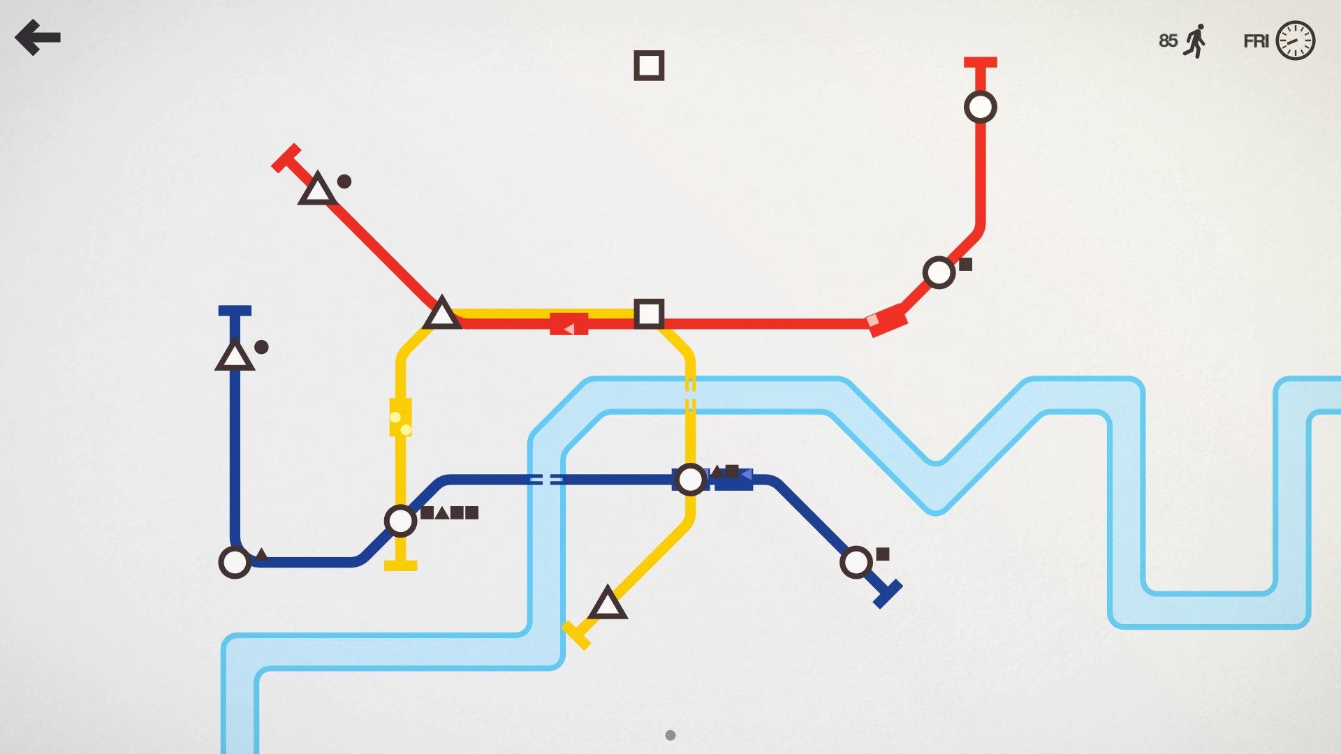 screenshot of mini metro
