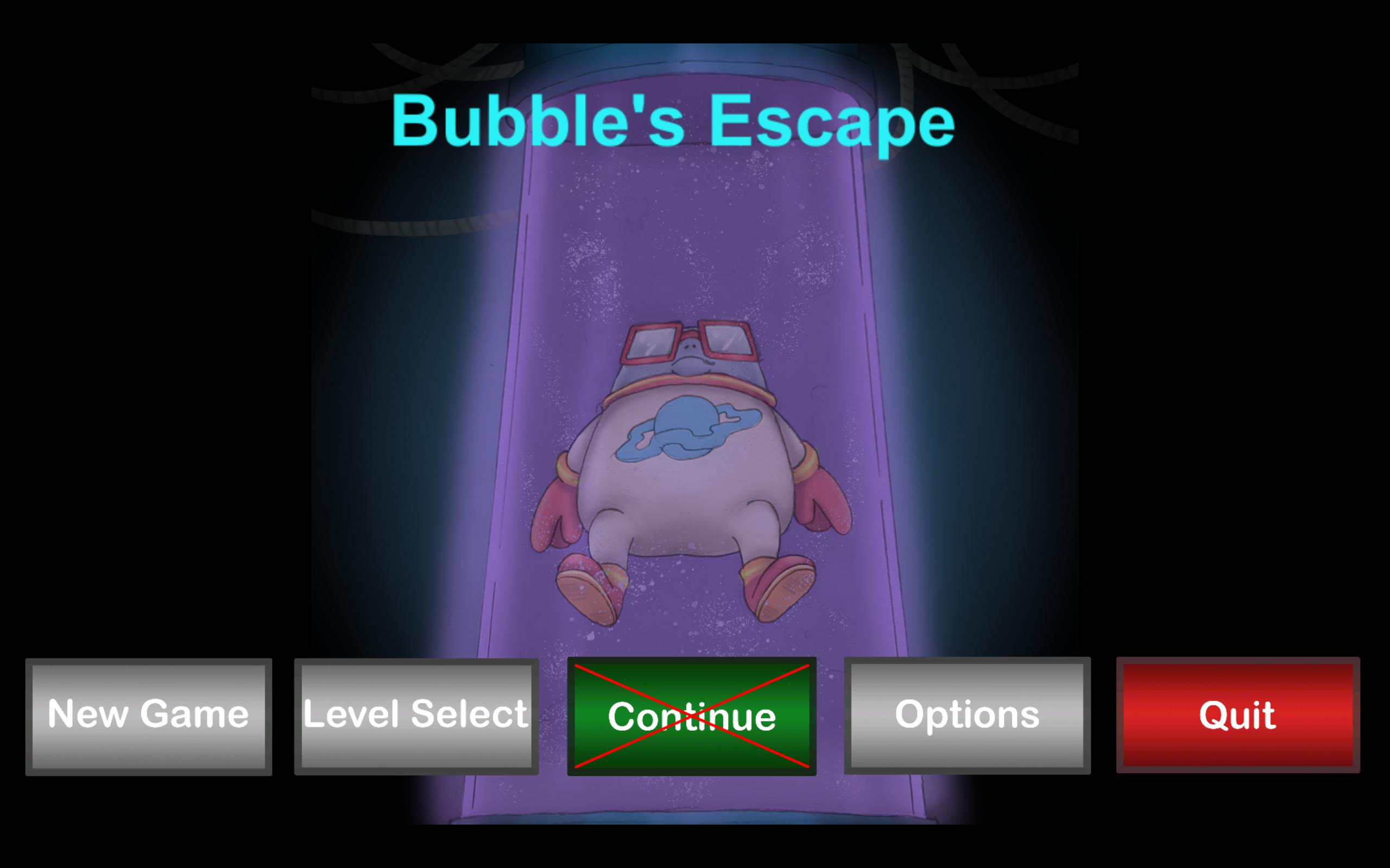 Bubbles Escape Title Screen