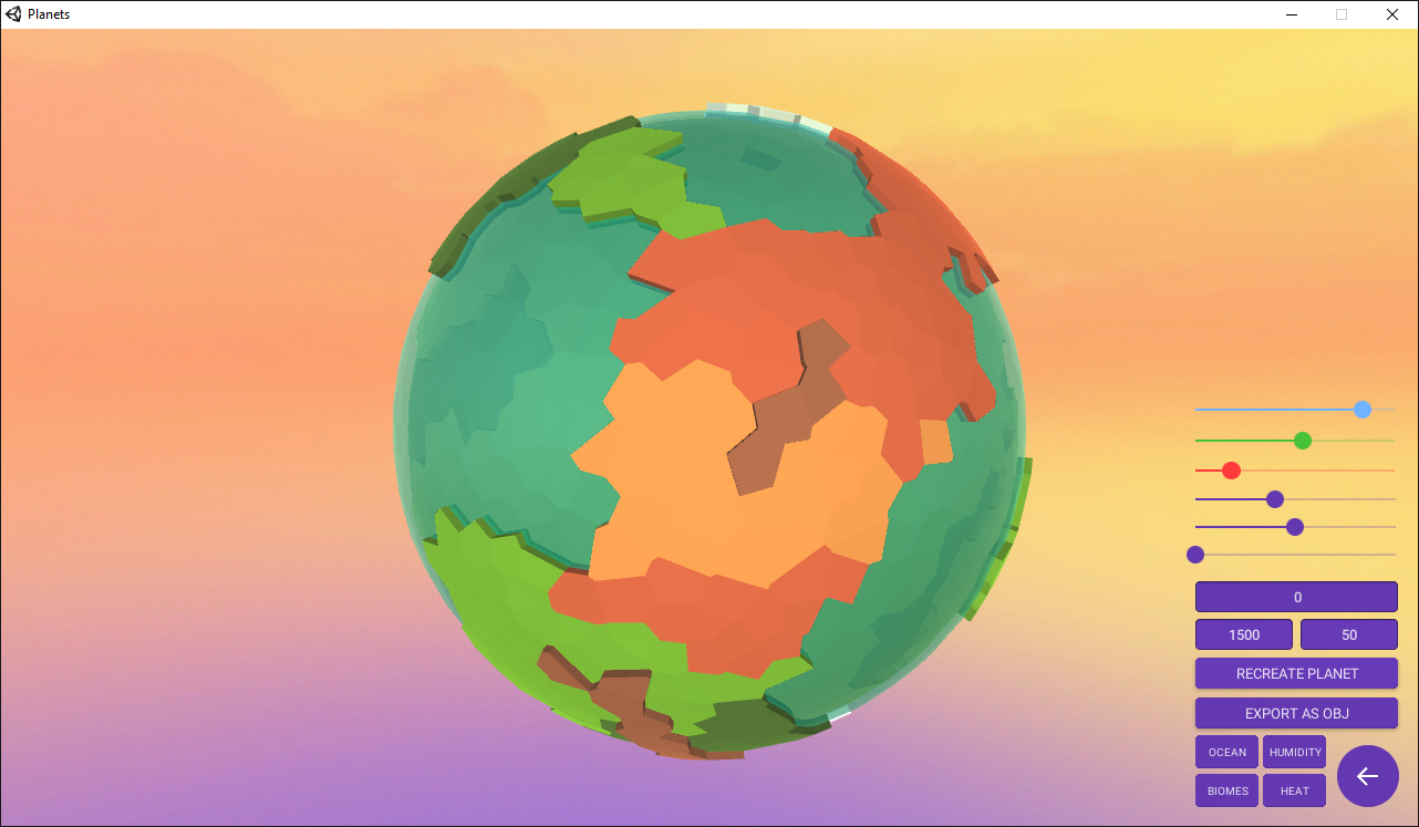 Procedural Voronoi Planets by crushingcups