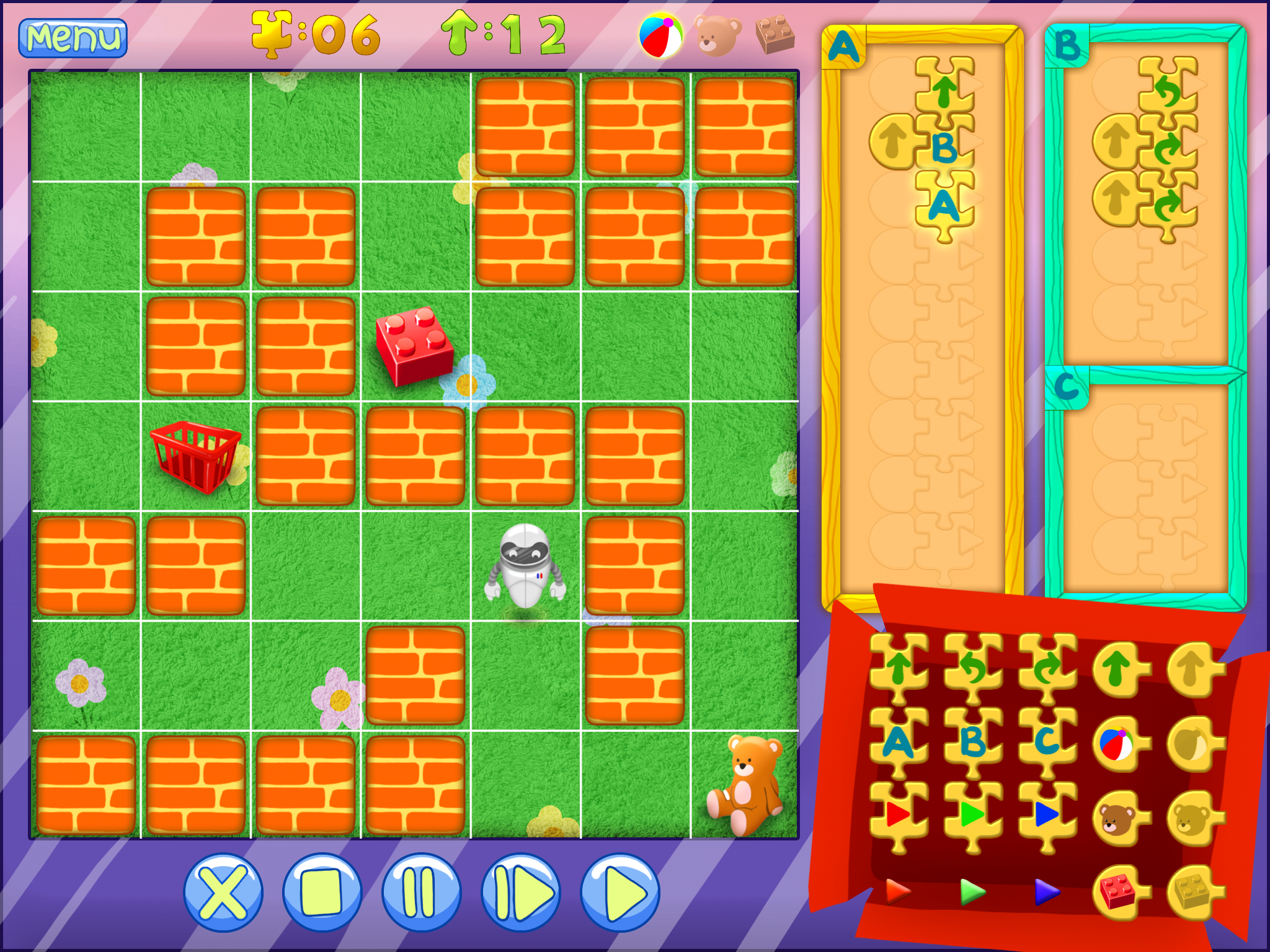 Kid Bot - programming puzzles for kids and big children by Eskape 2 Play