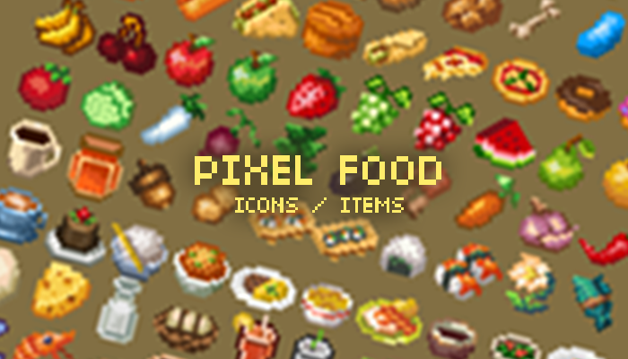 Food Items Icons By Ansimuz
