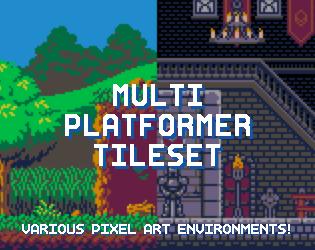 Multi Platformer Tileset by Shackhal