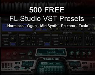500 FREE FL Studio VST Presets by Psionic Games