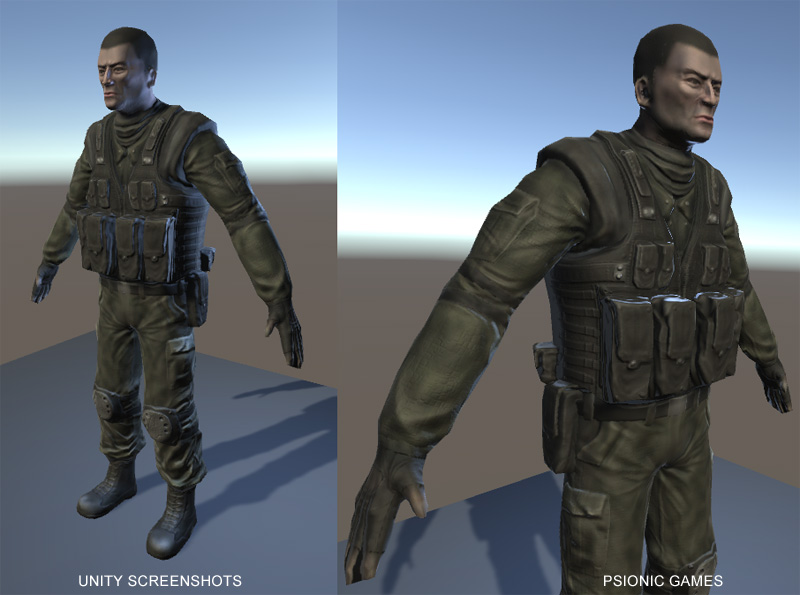 Psionic's Free 3D Soldier Model