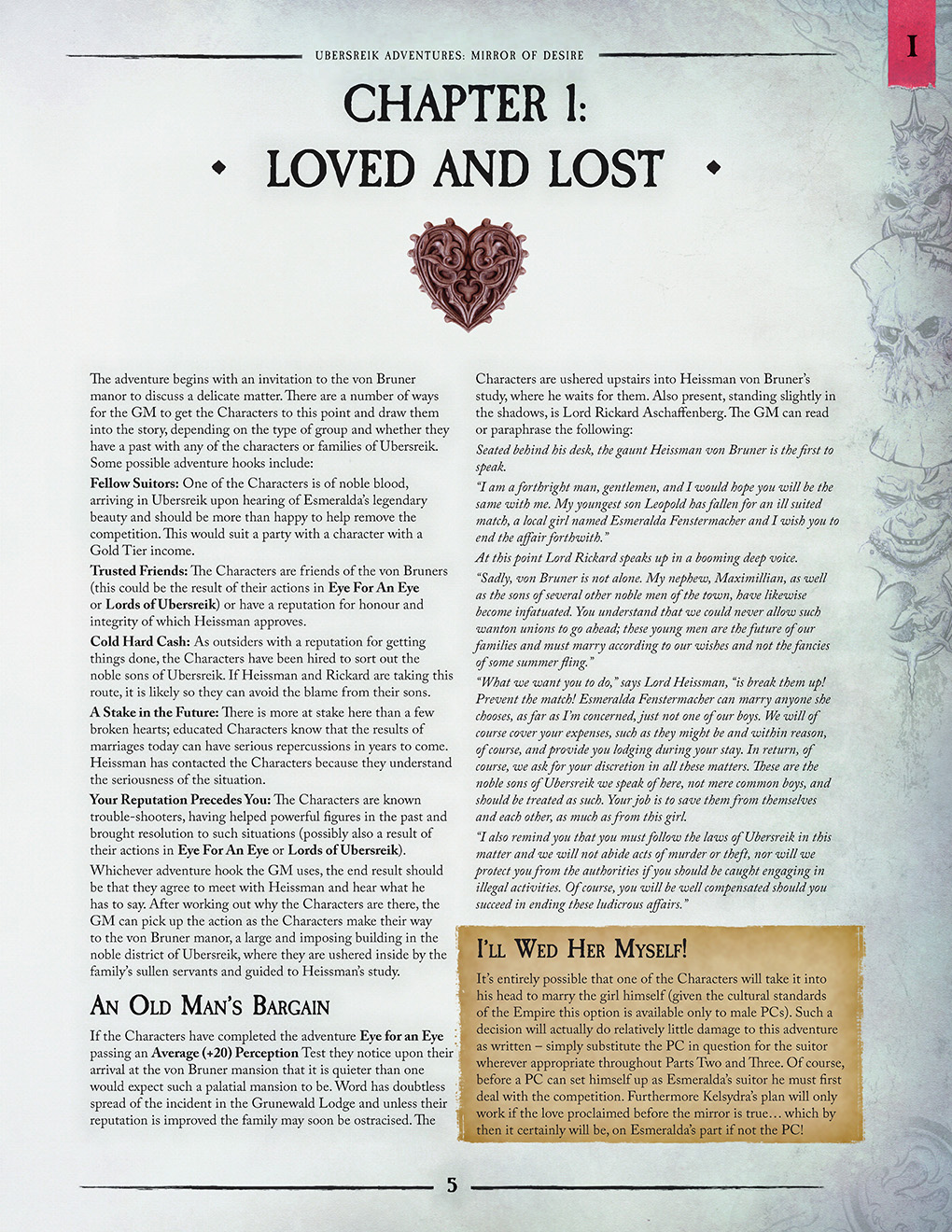 Warhammer Fantasy Roleplay 4th Edition Mirror Of Desire By Games From The Perilous Realm