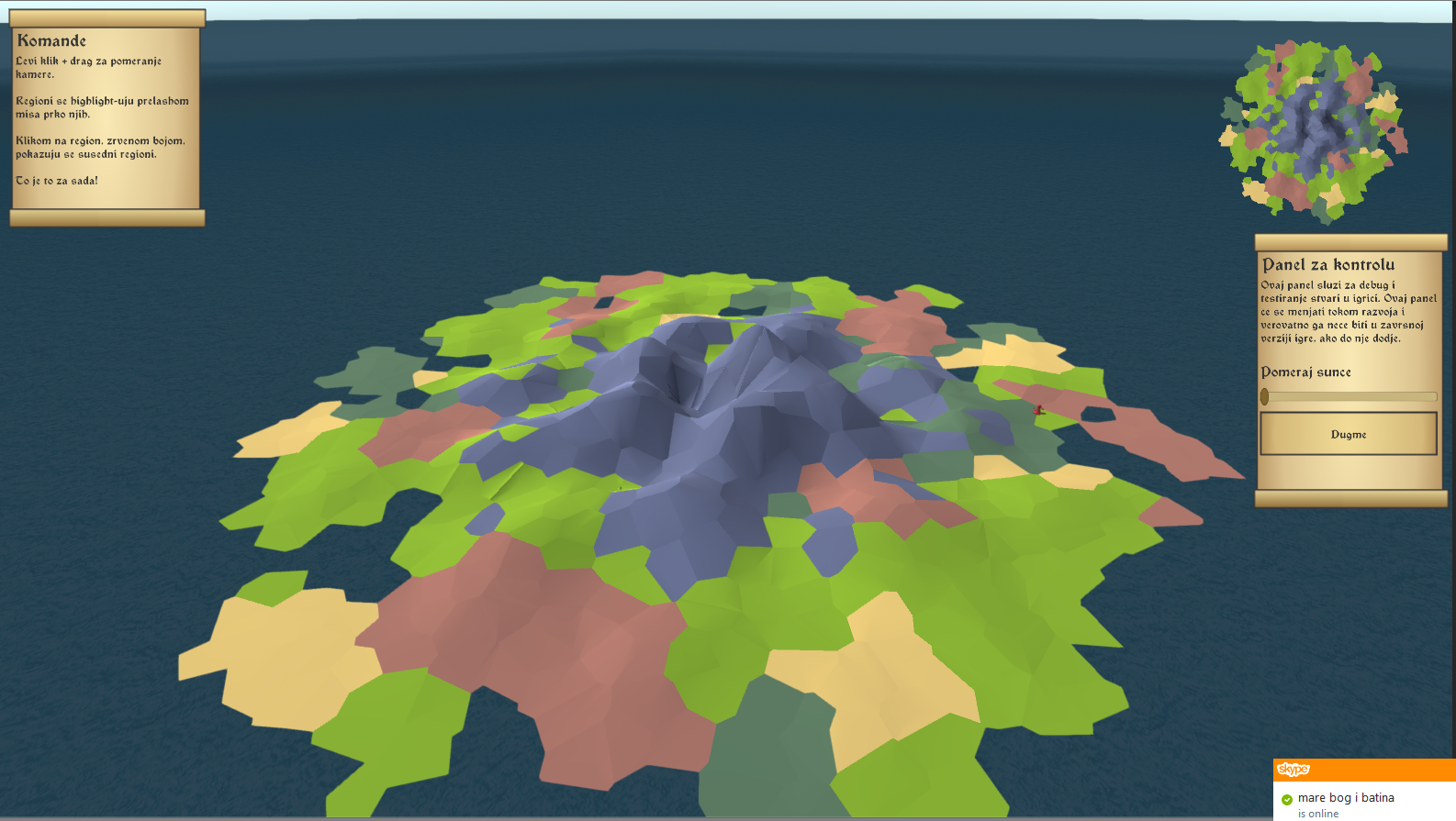 Low Poly Voronoi Tile Strategy Island Generation