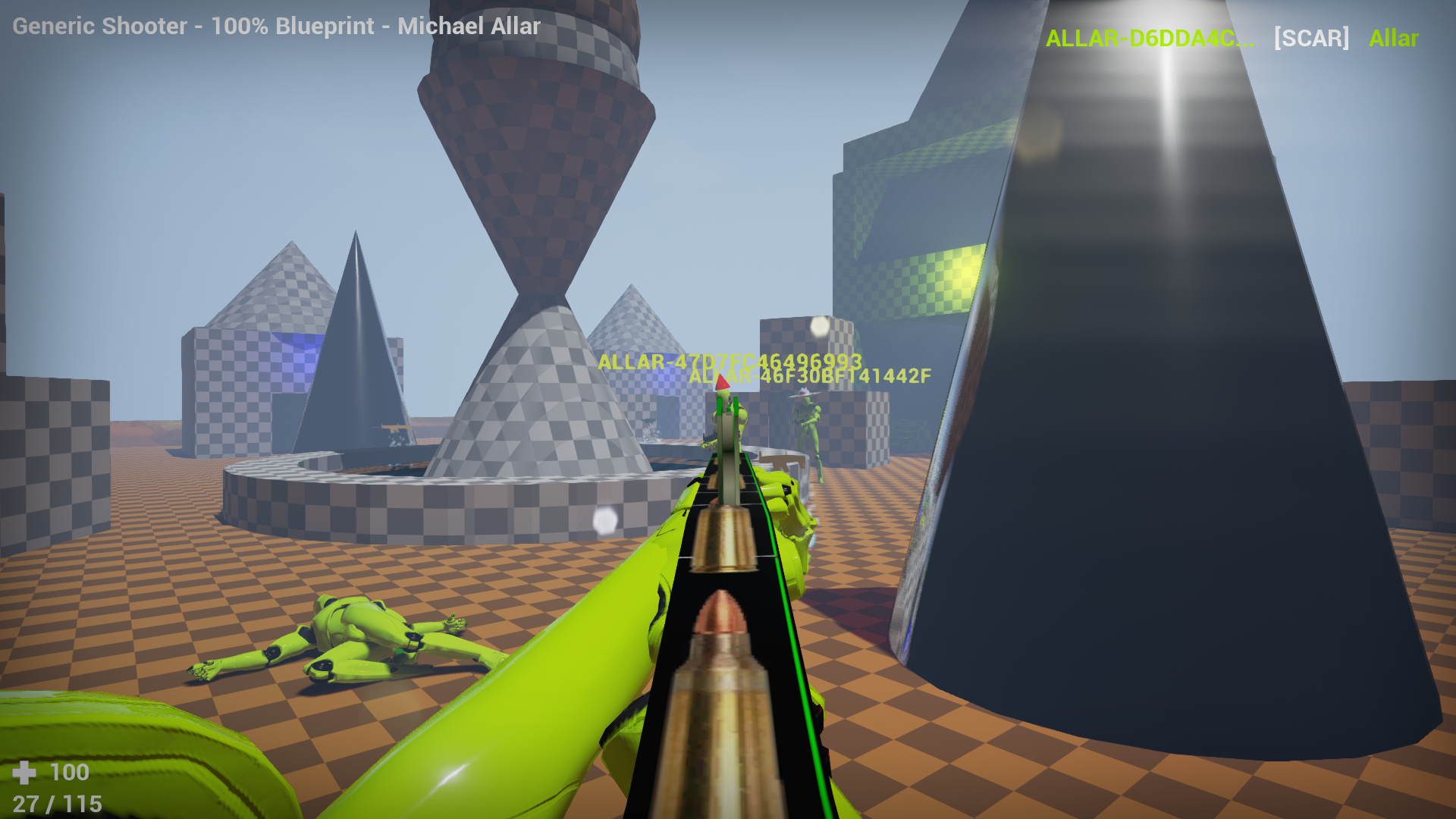 Generic Shooter Sample Project for Unreal Engine 4 by Gamemakin LLC