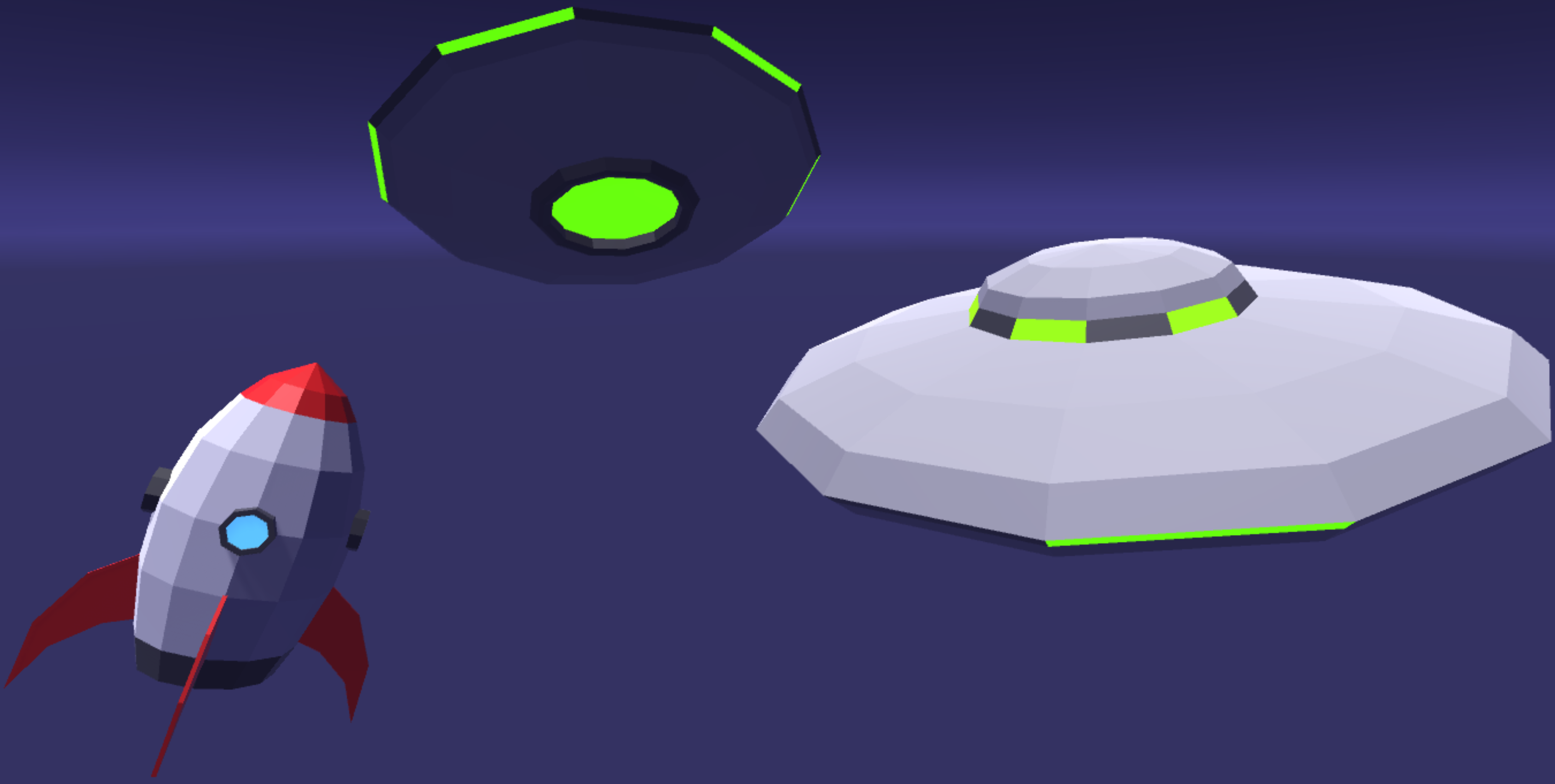 low poly spaceship asset pack 001 by emerald eel entertainment