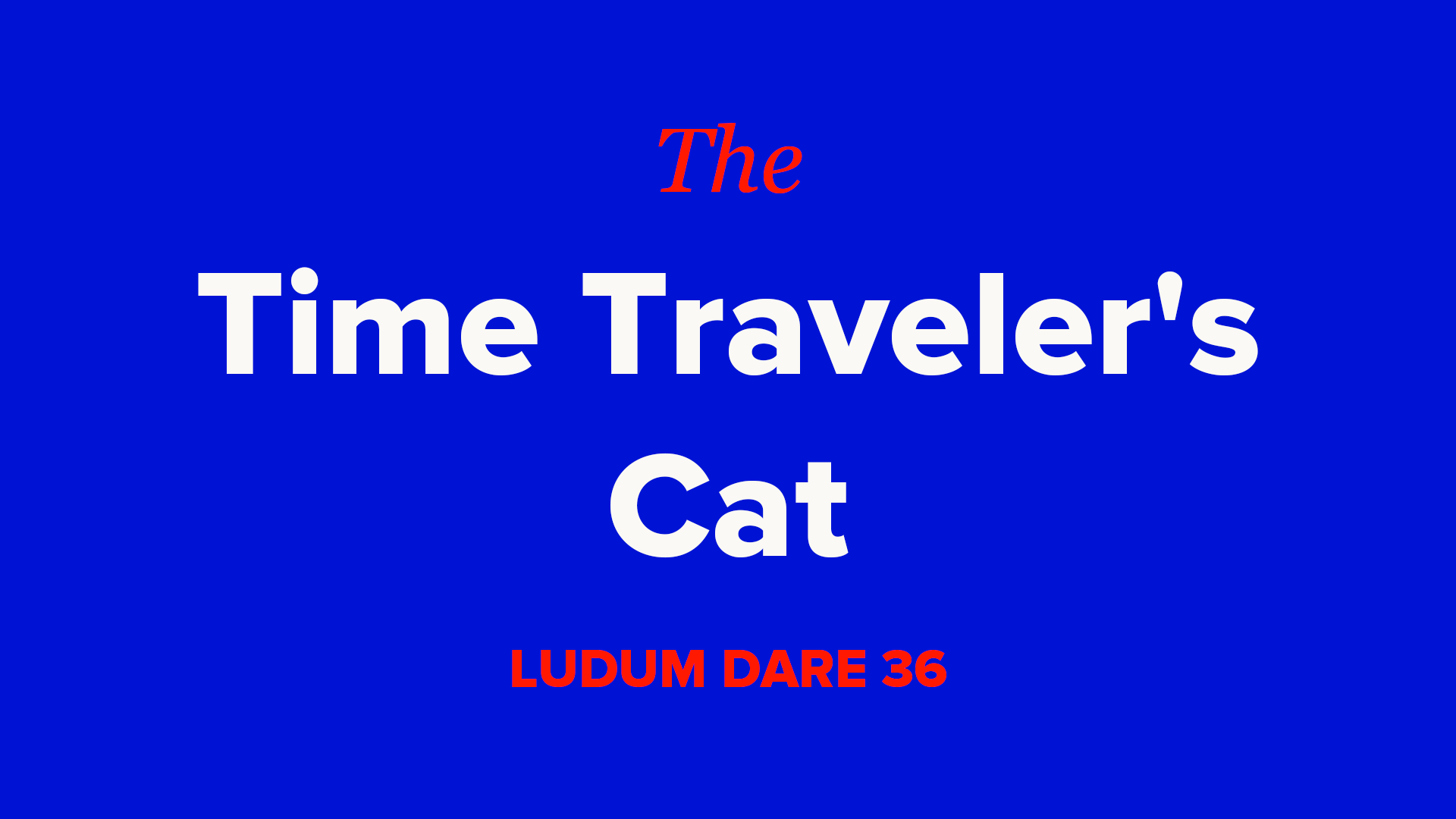 The Time Traveler's Cat