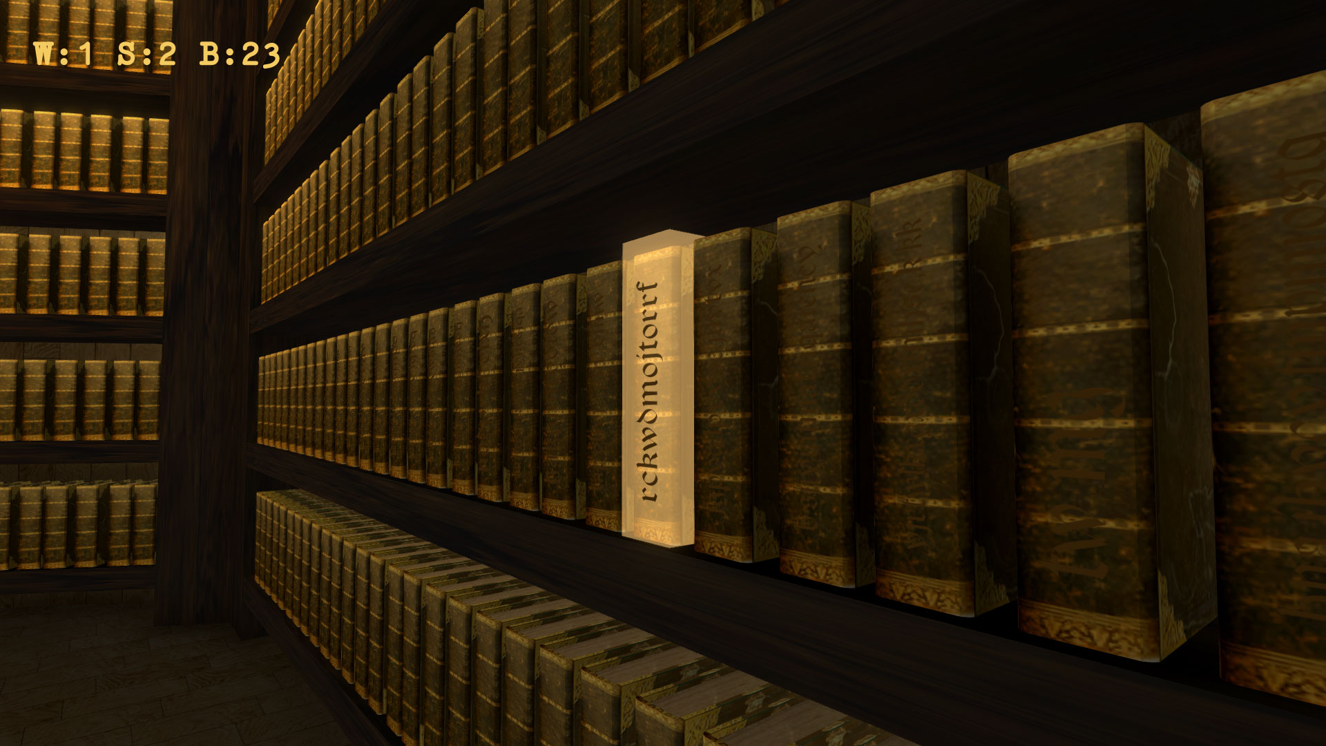 Library of Babel 3D by Keiwan