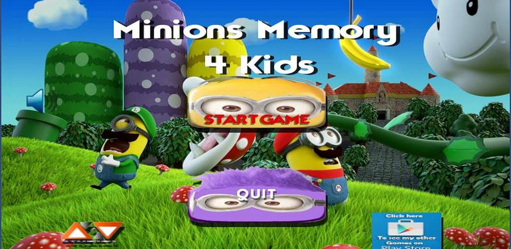 Minions Memory 4 Kids