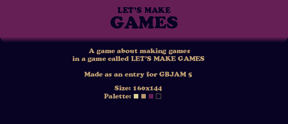 Let's Make Games