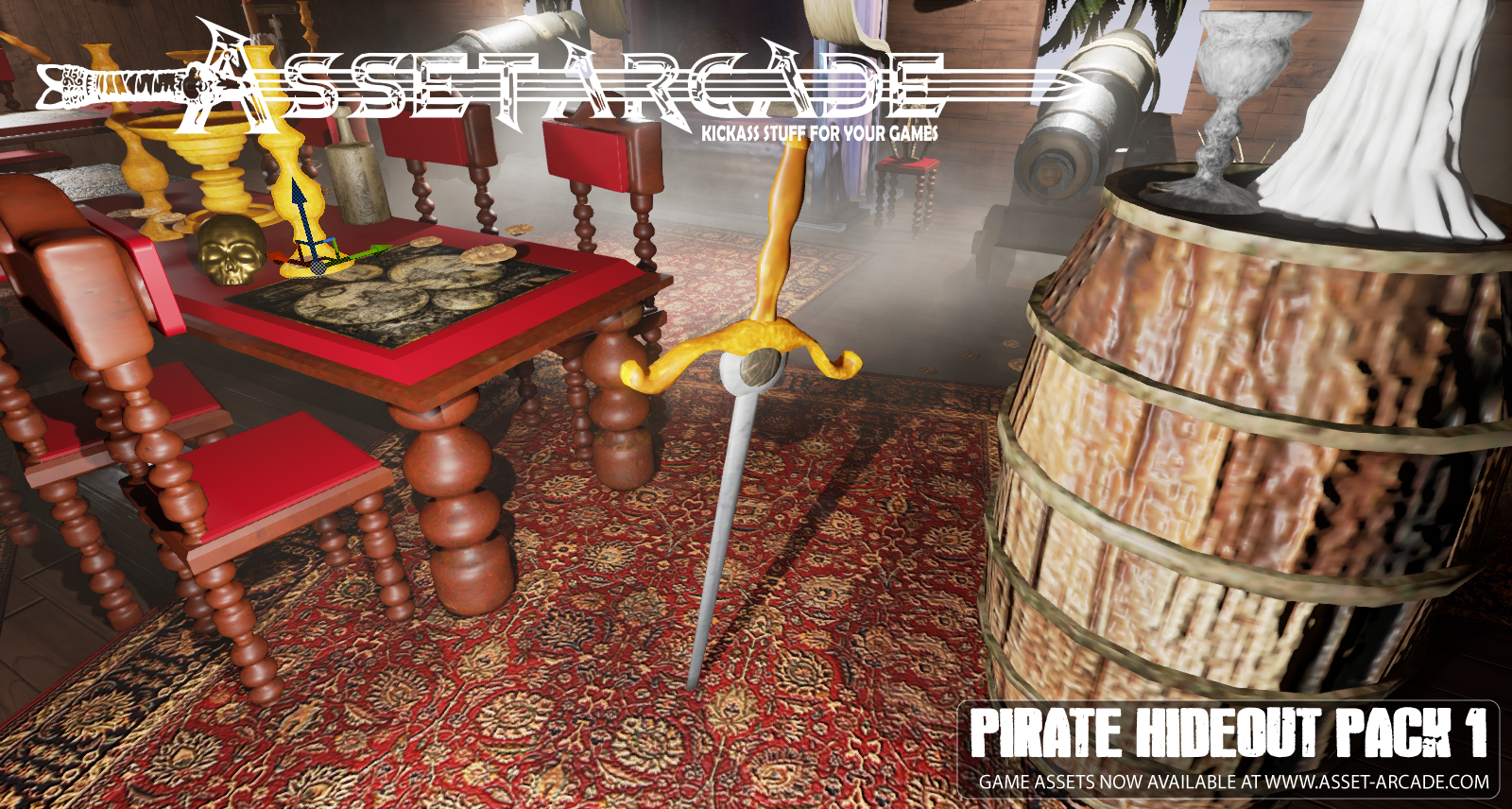 Asset Arcade Pirate Hideout Pack 1 by loraggames