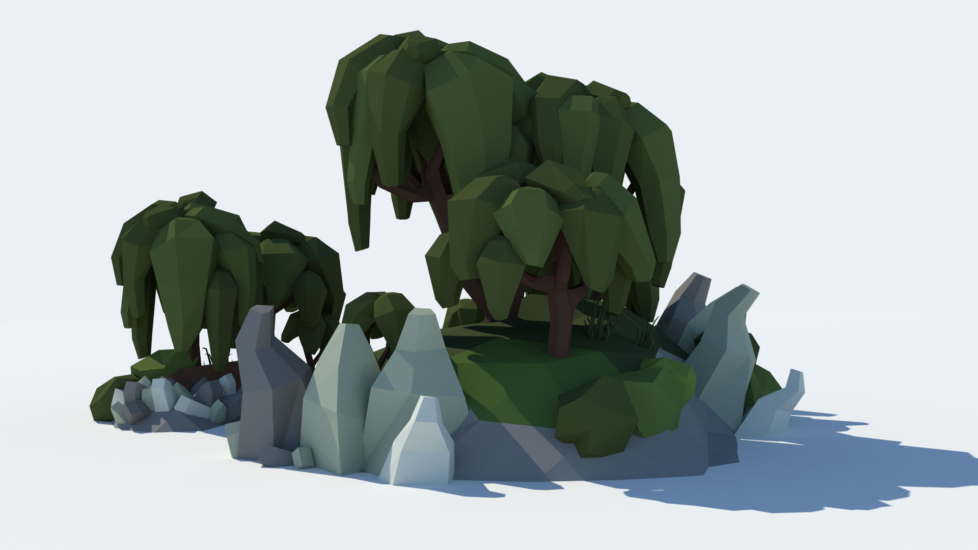 Low Poly Tree Pack by Broken Vector