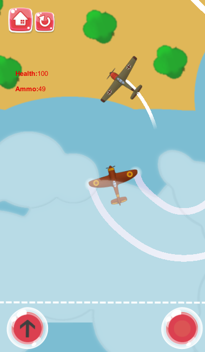 2D Top Down Shooter - Destroy The Planes (Infinite Mobile