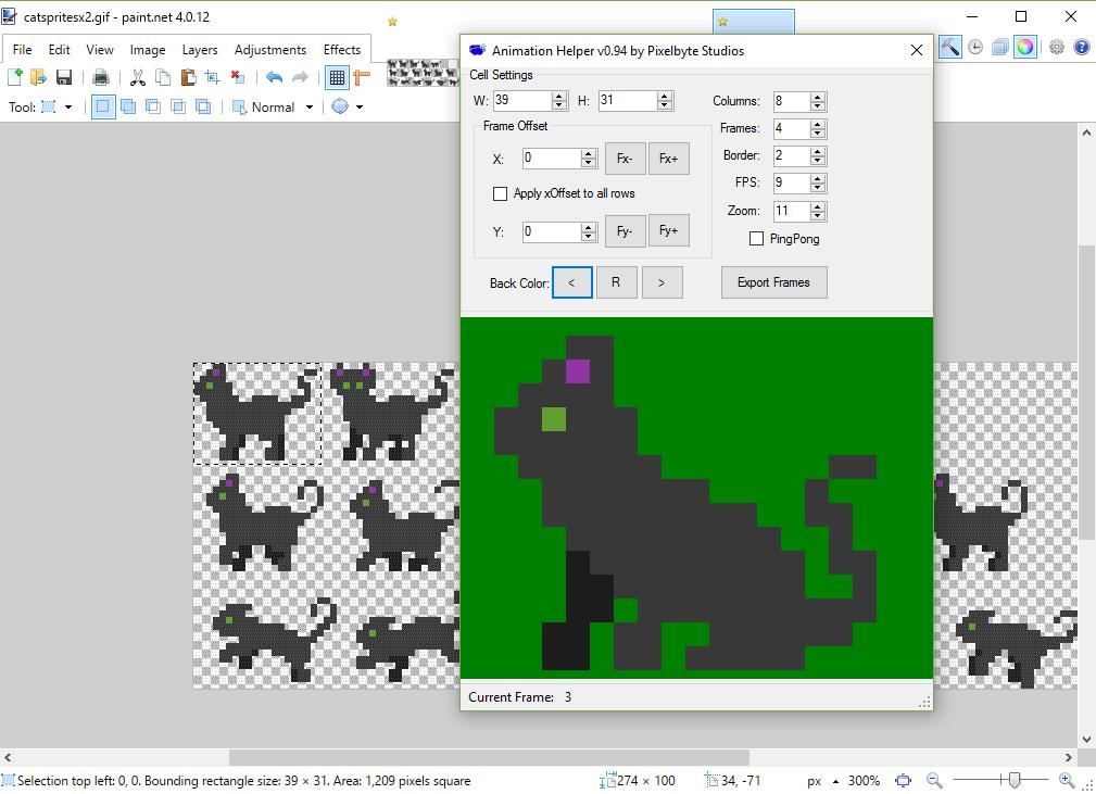 Paint  Net Animation Helper Plugin by Pixelbyte Studios