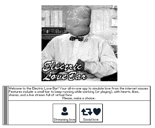 Electric Love Bar (social love simulator 2k)