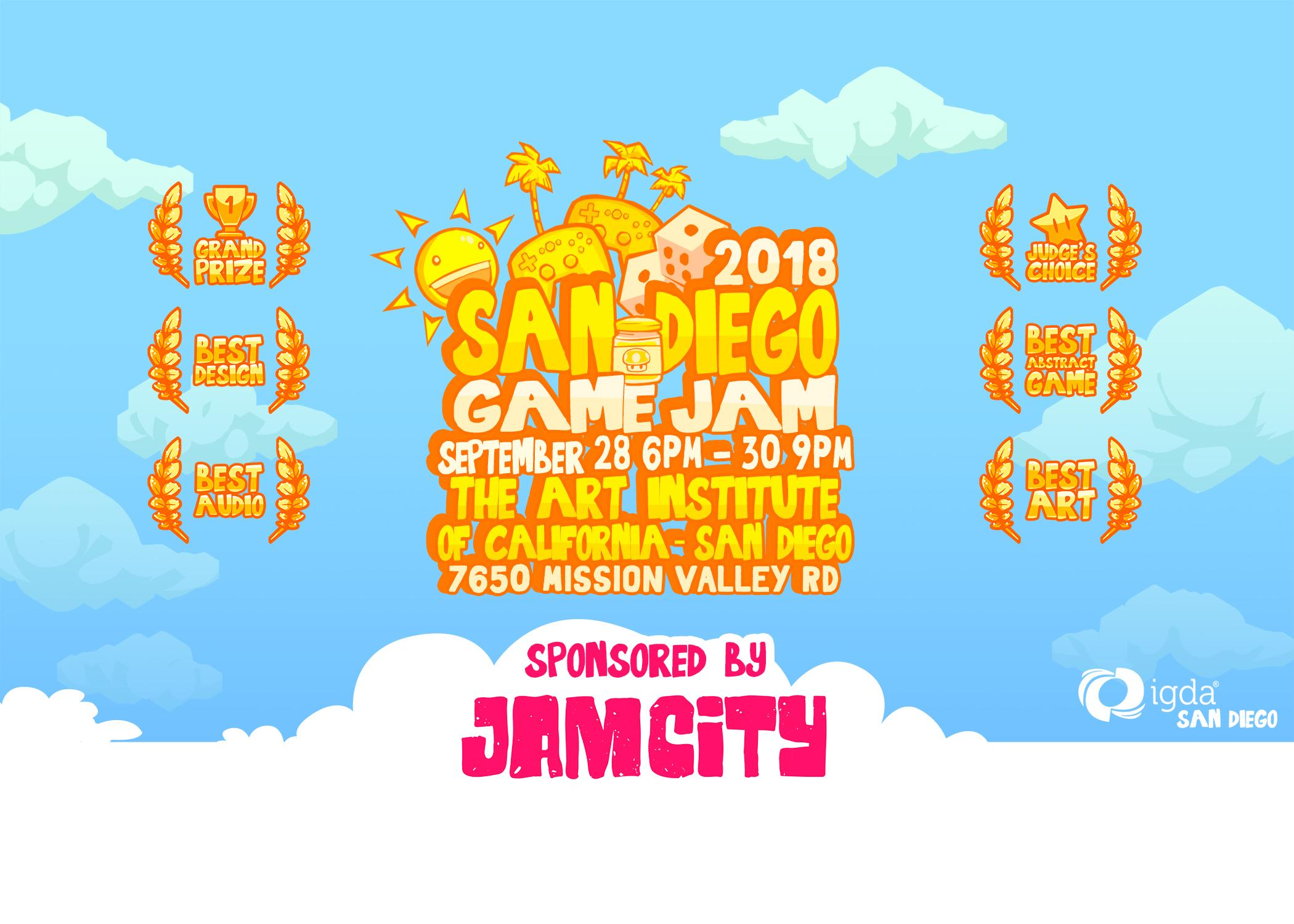 IGDA San Diego Game Jam Itchio - The art institute game design