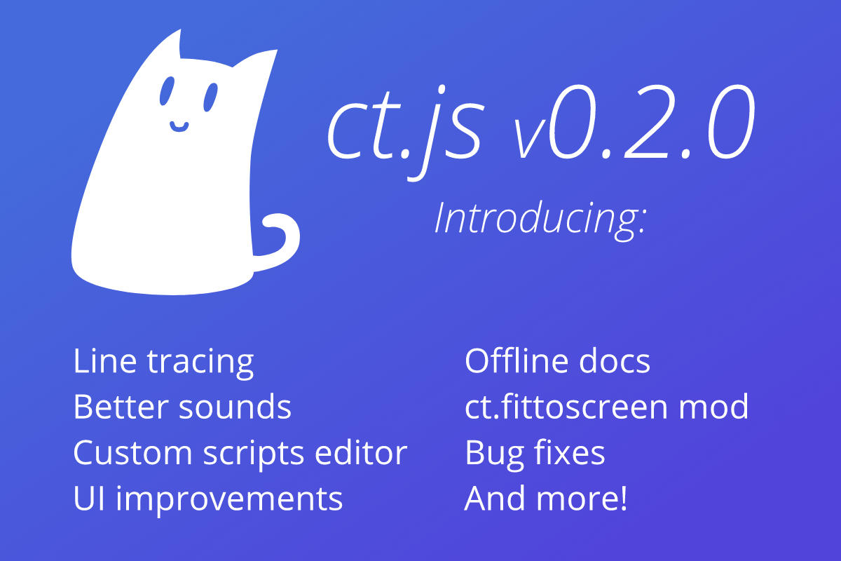 First update to ct js is here! 🎉 - ct js by Cosmo Myzrail