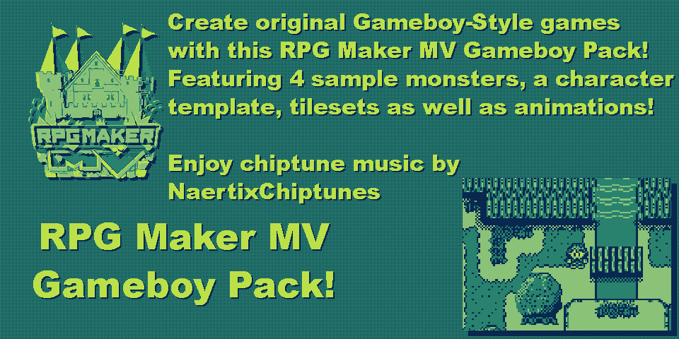 RPG Maker MV Gameboy Pack (RMBoy) [+ Palette Plugin!]