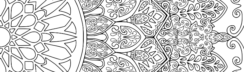 moroccan themed mandala for colouring by screwy lightbulb