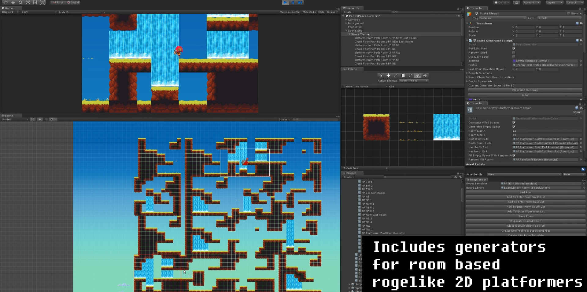 Strata: Easy 2D Level Generator For Unity With Procedural