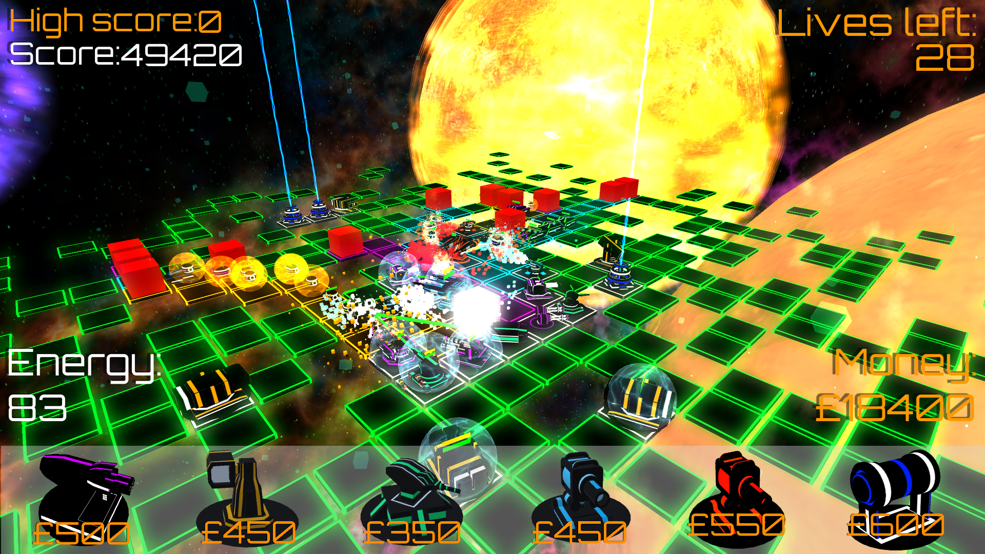 Orion Defenders - a hectic, randomly generated tower defense