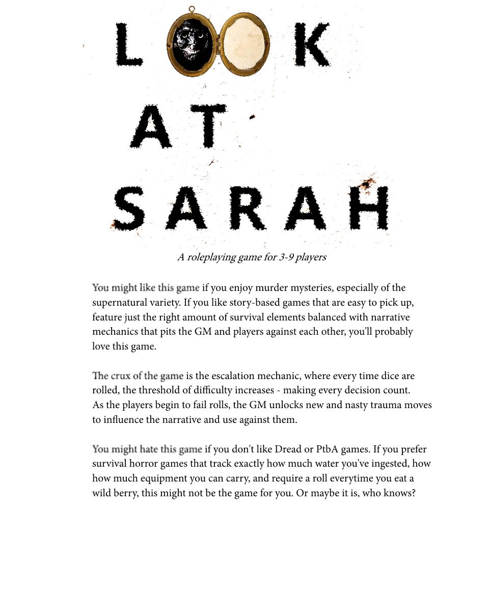 Look at Sarah