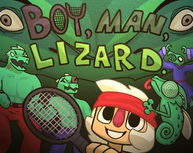 Boy, Man, Lizard