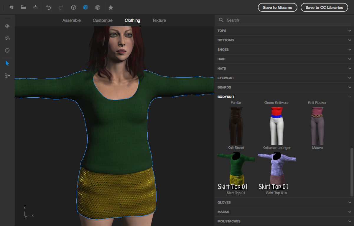 Skirt-Top 01 for Adobe Fuse by wetcircuit