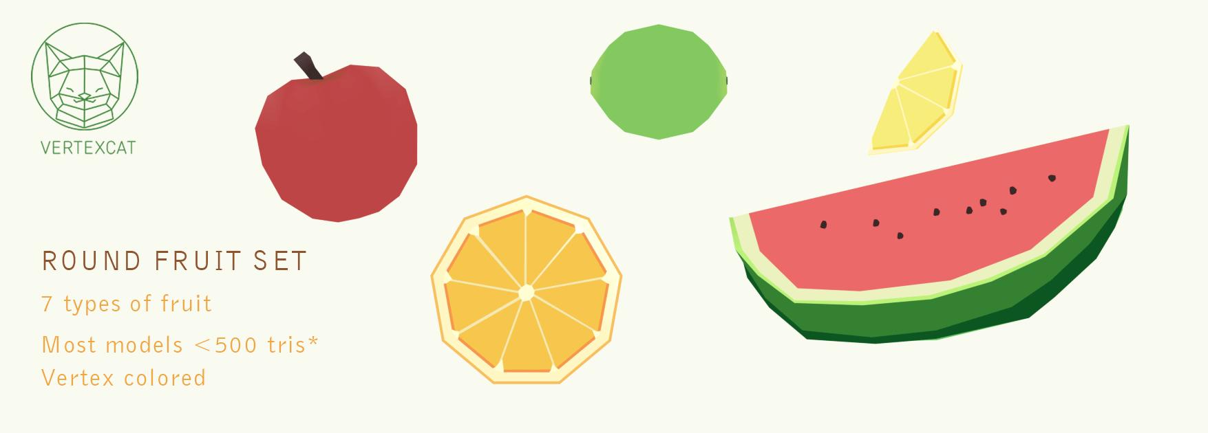 Round fruit set