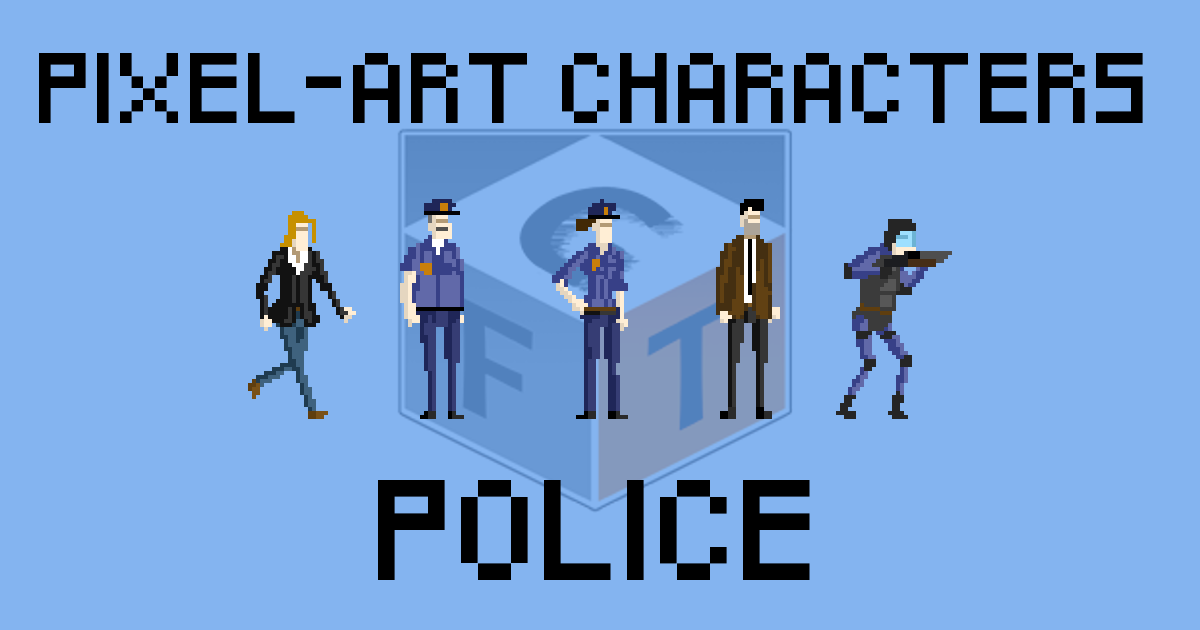 Pixel-Art Characters - Police