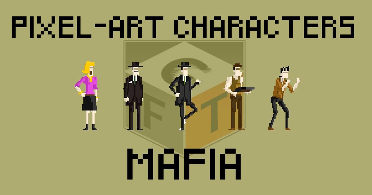Pixel-Art Characters - Mafia