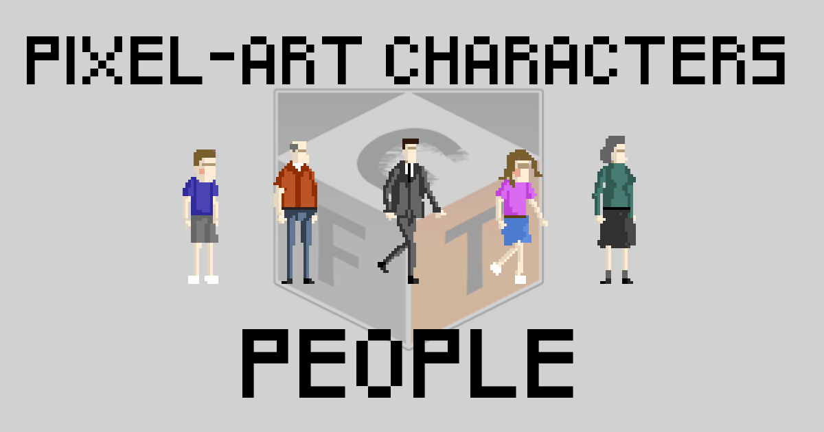64x64 Characters with animations for your pixel art games
