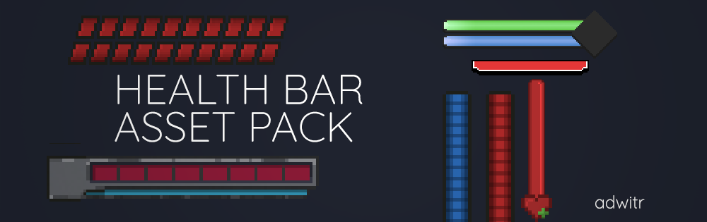 Pixel Health Bar Asset Pack