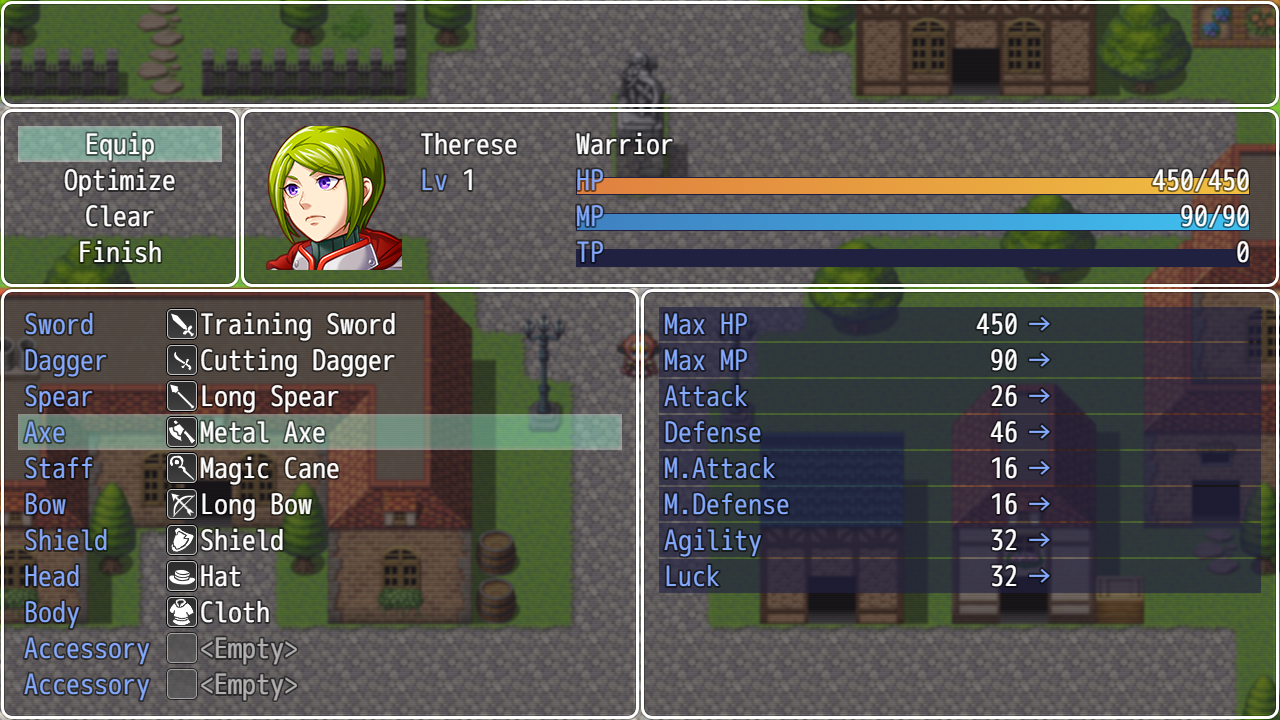 Weapon Swap System plugin for RPG Maker MV by Olivia