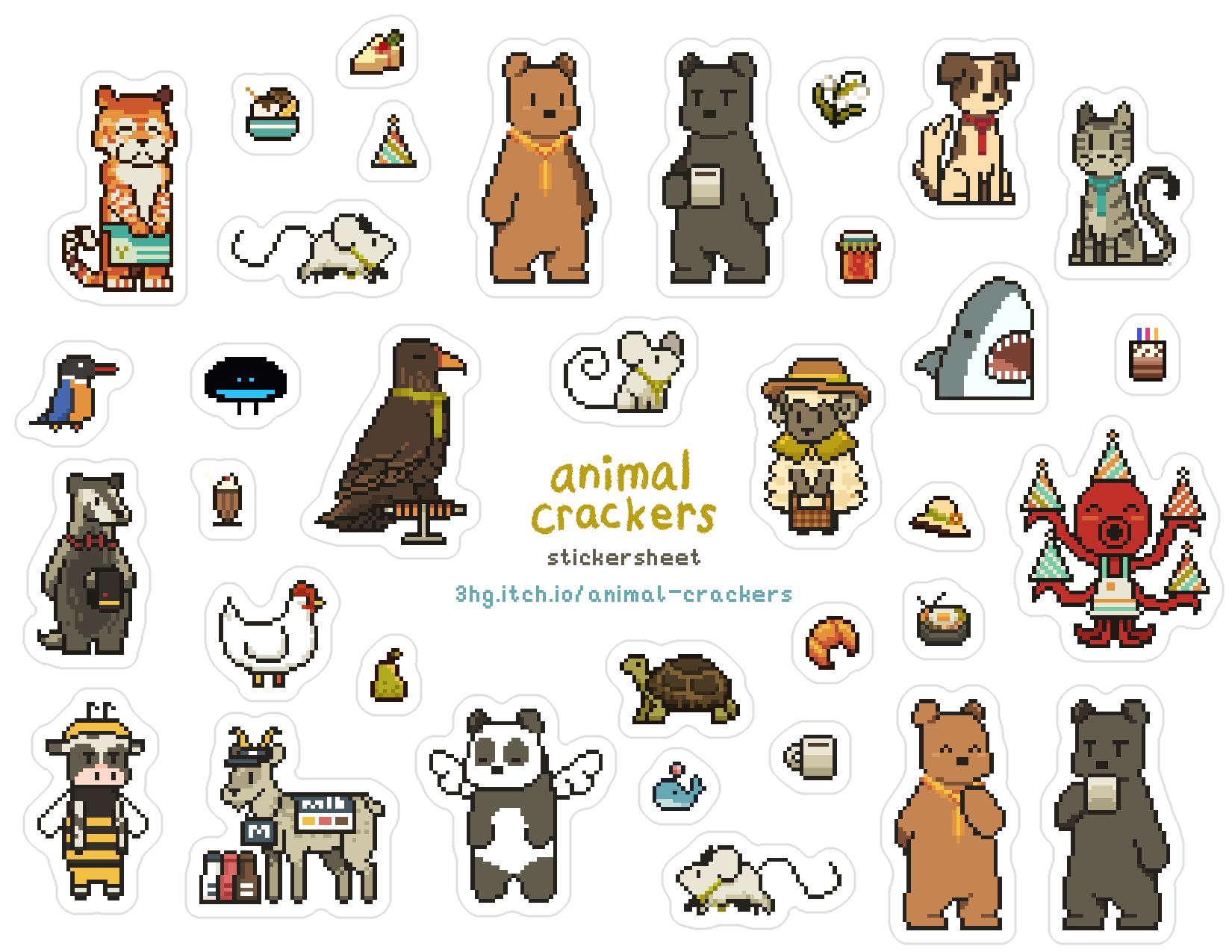 Animal Crackers Stickersheet