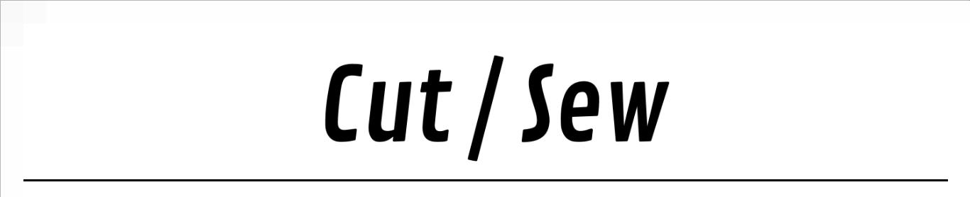 Cut/Sew